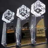 骰子水晶獎座