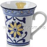 手繪葡式瓷杯